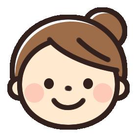 シンプル笑顔